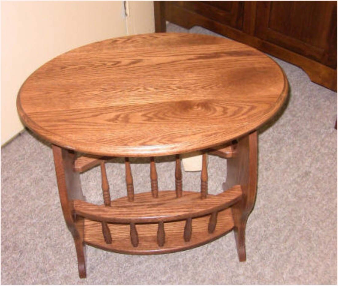 Oak mennonite magazine table lloyd 39 s mennonite furniture for Furniture ontario ca