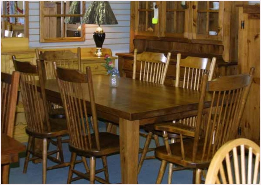 Rustic mennonite harvest barn board table chairs lloyd for Furniture ontario ca