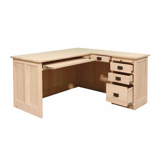 Mission L Shaped Desk Lloyd 39 S Mennonite Furniture Gallery Solid Wood Mennonite Furniture