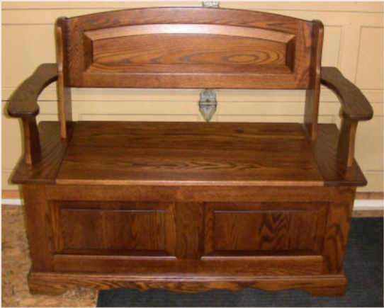 Oak panel mennonite deacons bench lloyd 39 s mennonite for Furniture ontario ca